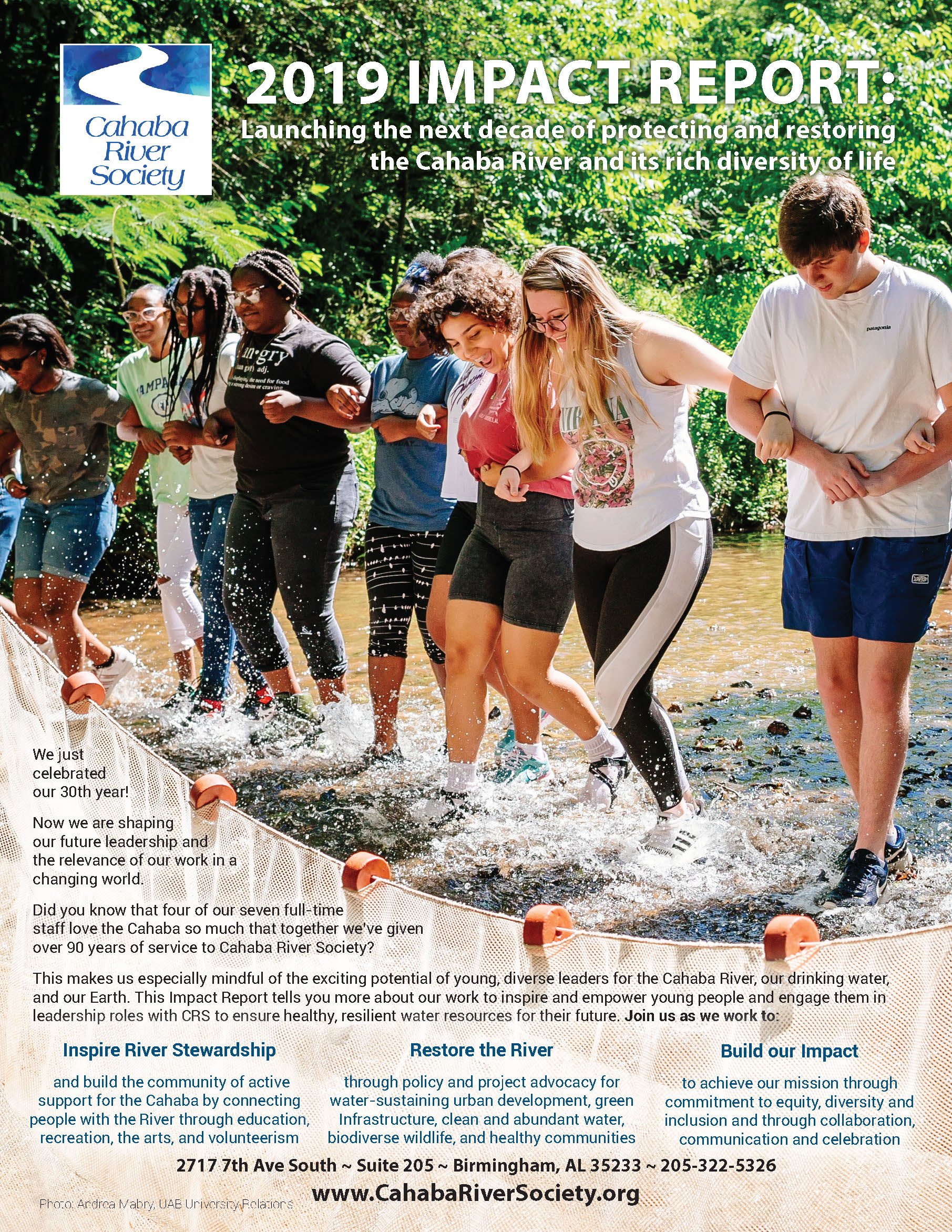 Cahaba River Society 2019 Impact Report